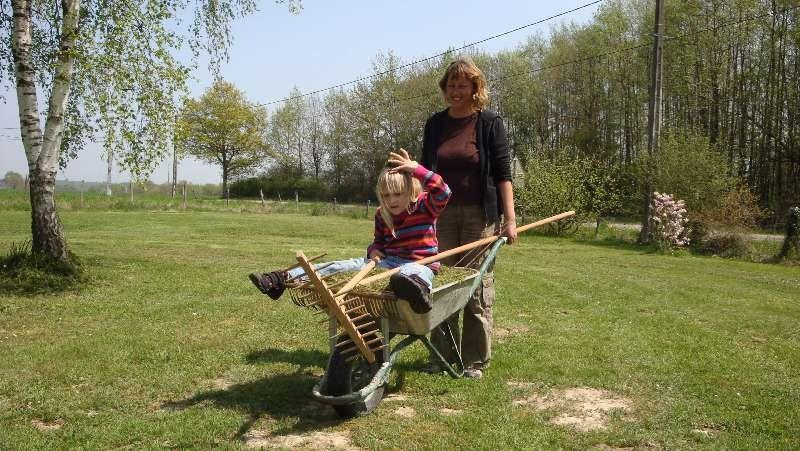 Harte Gartenarbeit