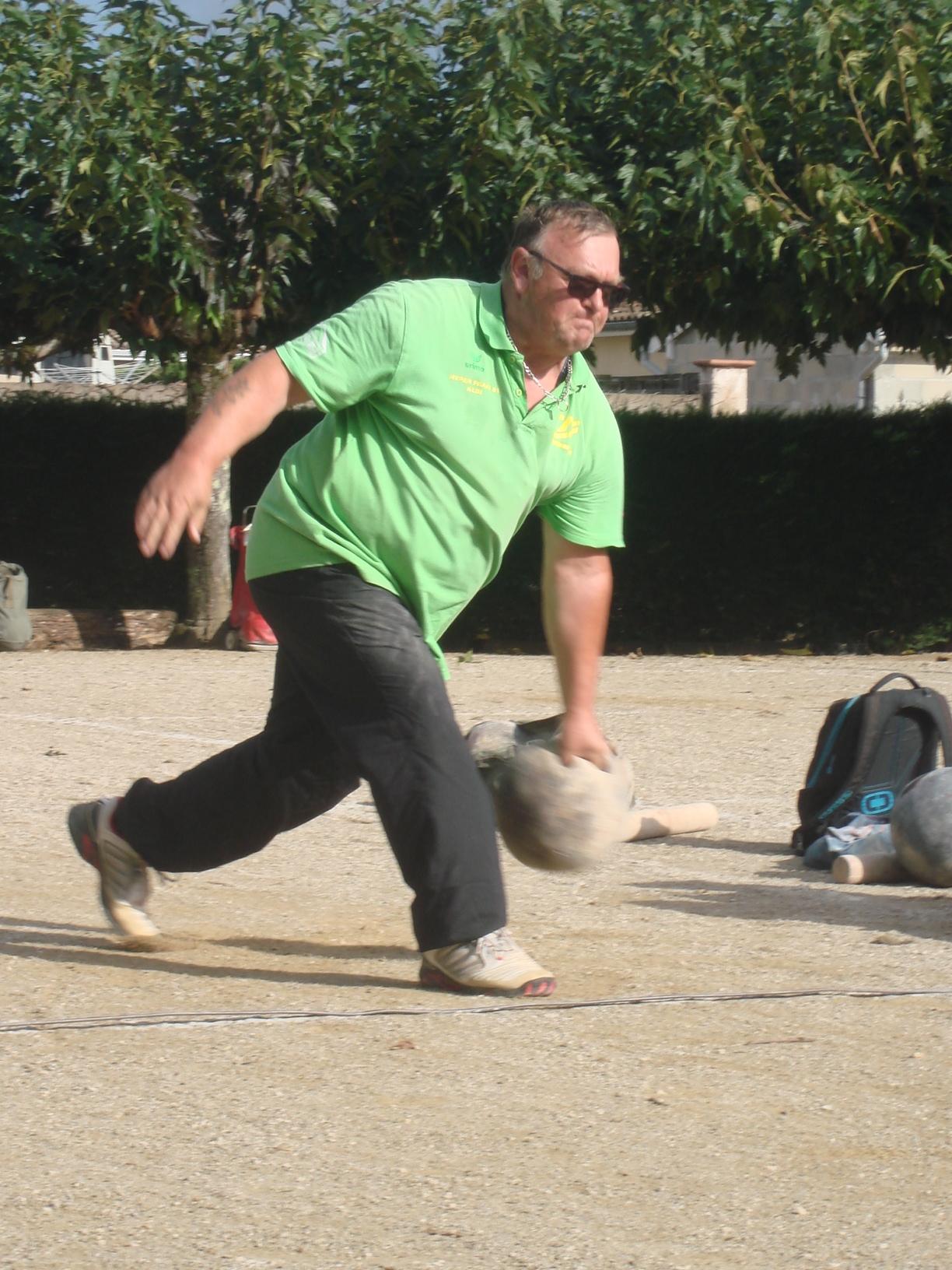 Denis KORB, le lancer de boule