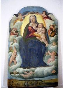 """"""" Madonna di Costantinopoli """" tempera su tavola – Maestro di Gesualdo–sec.XVI"""