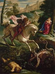 Tintoretto: Der Hl. Georg, um 1543   c) St.Petersburg, Staatliche Eremitage, 2018.