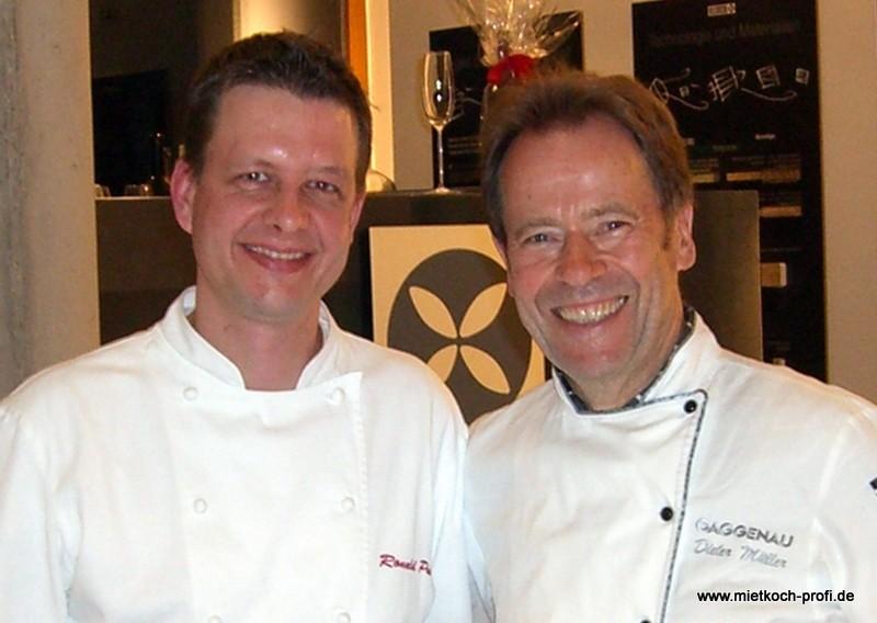 mit Dieter Müller bei einem Gaggenau Kochevent
