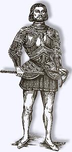 Gilles de Rais, der angeblich 800 Kinder für schwarzmagische Zwecke ermordet hat.