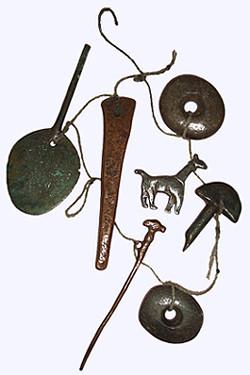Ein altes magisches Amulett aus Peru, das vermutlich auch für magische Handlungen genutzt wurde.