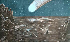 """Ein Bild aus dem Welteis-Roman """"Die Sintflut von Atlantis"""" von Tim Larssen."""