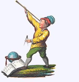 """Jbadons Gestalt lehrt die Astrologium"" (aus. Doktor Johannes Faust's Magia naturalis et innaturalis, 1849)"
