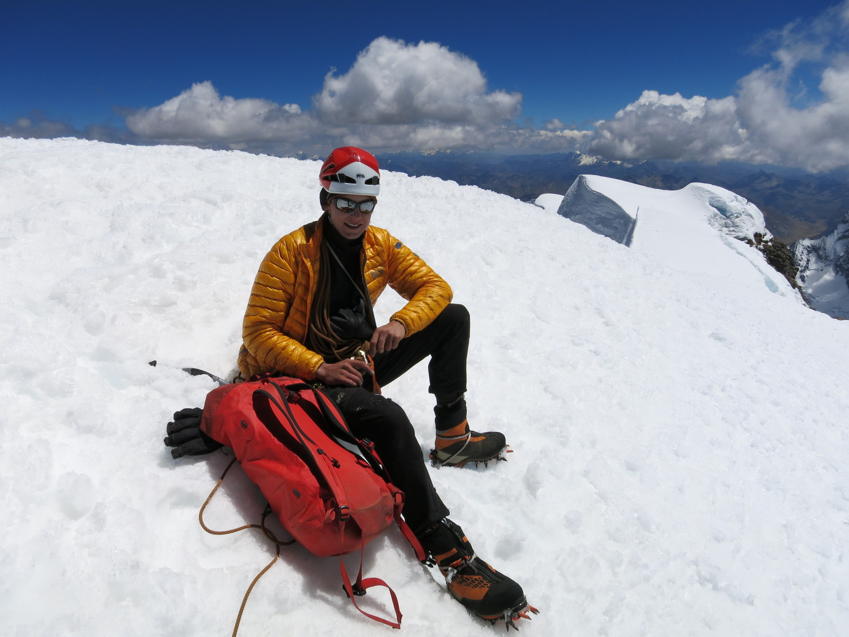 Ich auf dem Nevado Rasac, 6017m