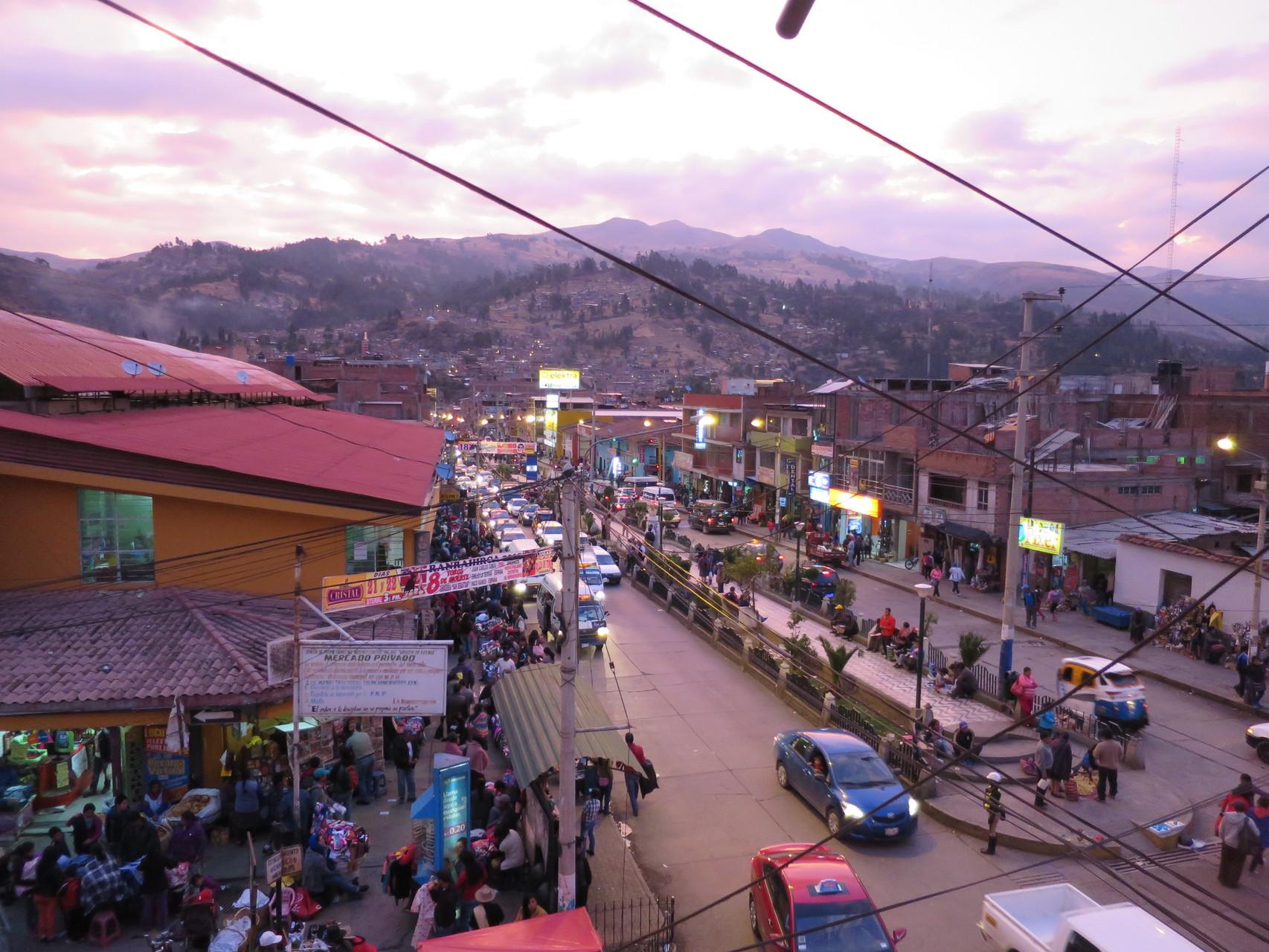Huaraz in der Abendstimmung. Ich werde zurück kommen!