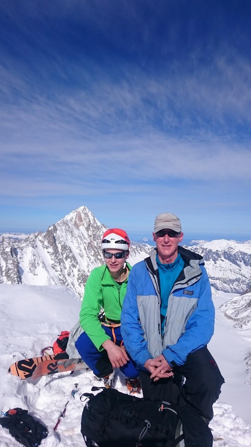 Mit meinem Vater auf dem Gipfel des Mont Dolent