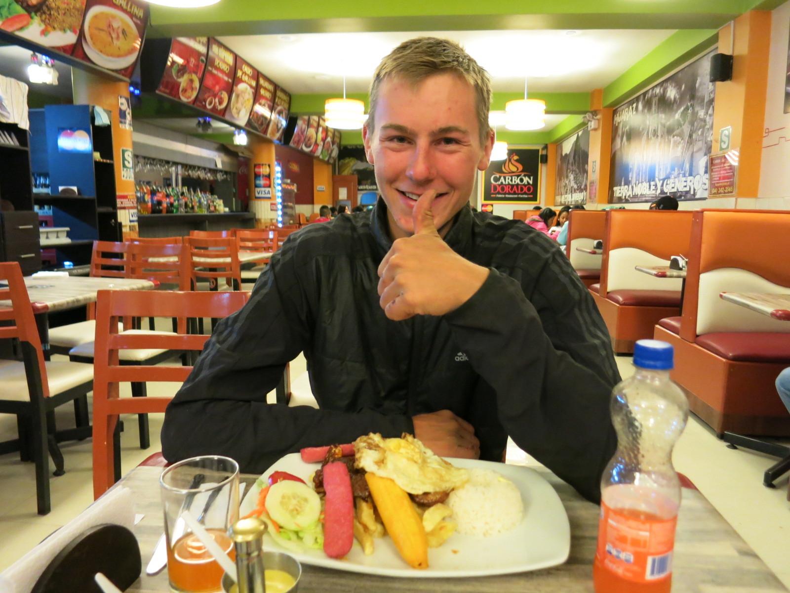 Abendessen in Huaraz! Mhm...Hammer!