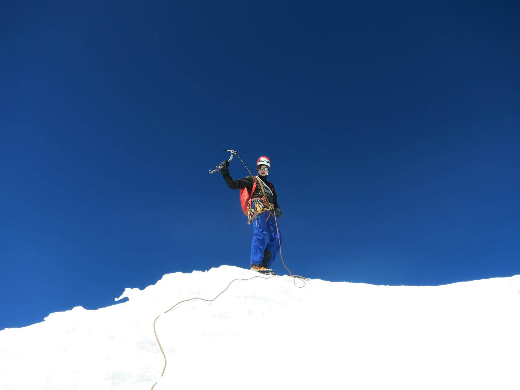 Ich auf dem Seria Norte Gipfel 5810m