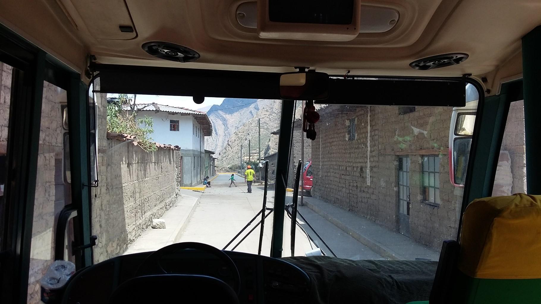 Blick aus dem Bus hinaus