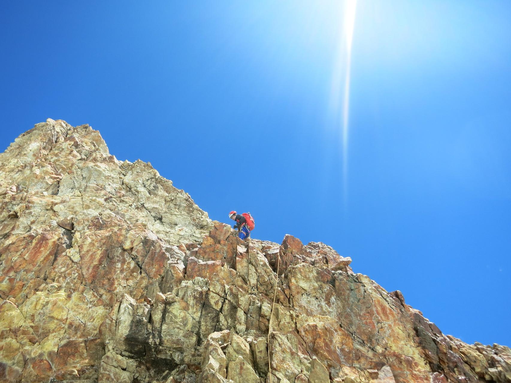 Ich auf dem Abstieg
