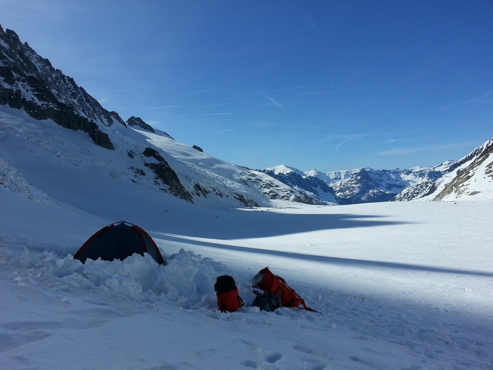 Übernachtung auf dem Gletscher