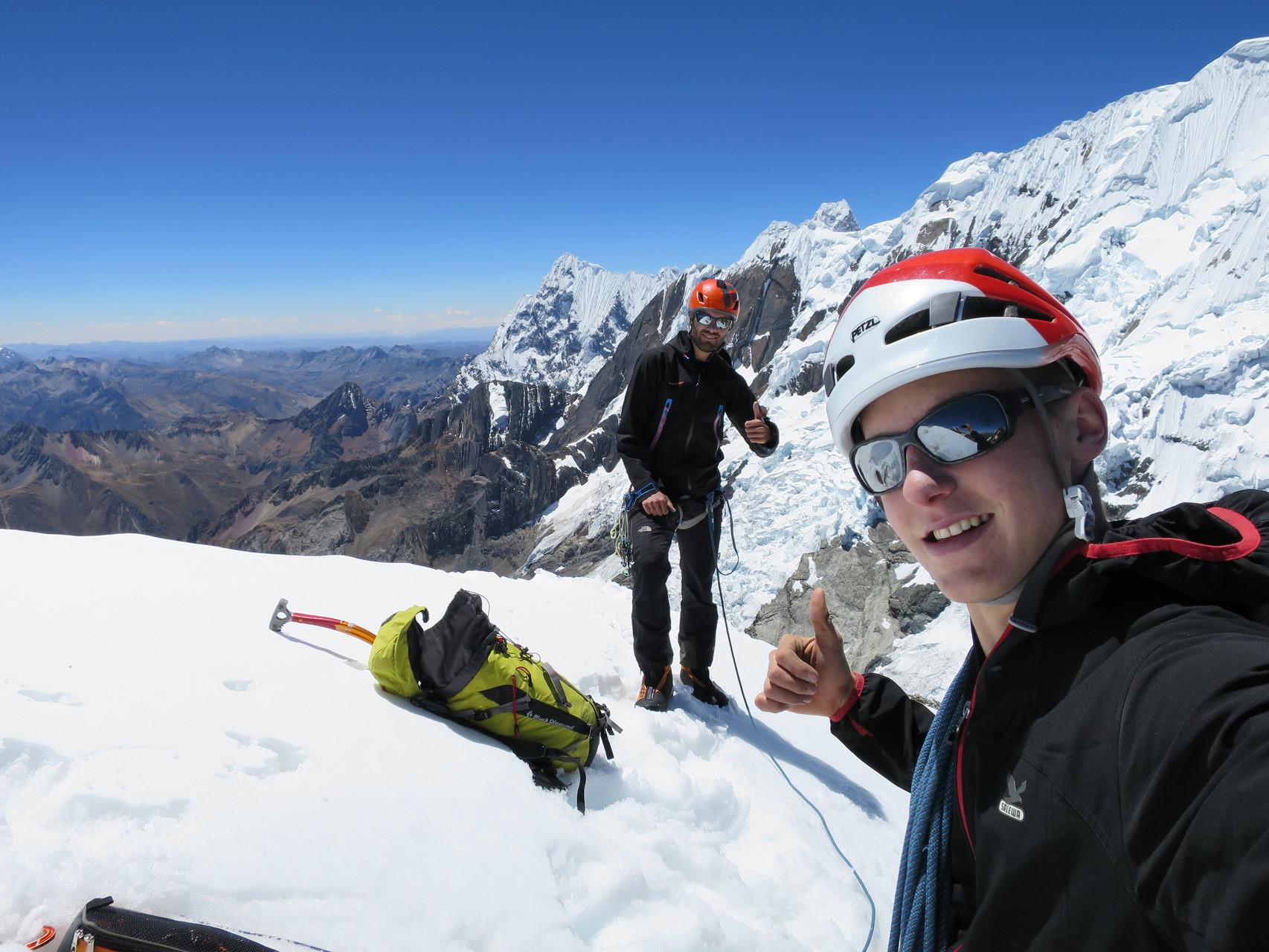 Auf dem Gipfel, juhu!