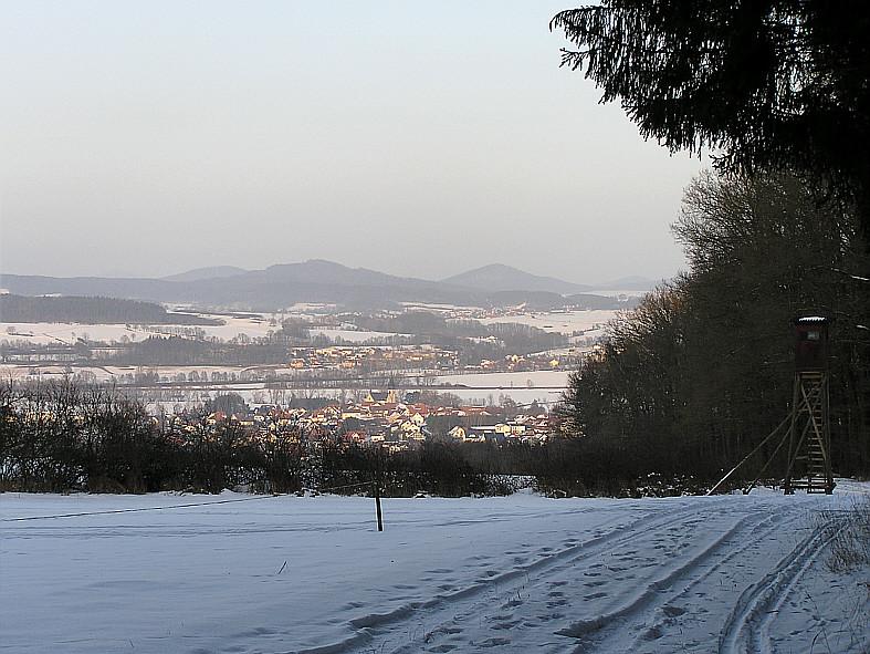 Im Rudolphshaner Wald, Blick auf Hünhan