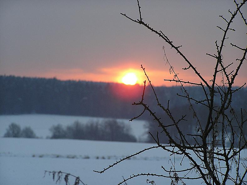 Sonnenuntergang am Hühnerberg