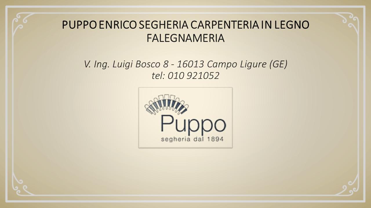 Falegnameria Puppo Campo Ligure sponsor ufficiale trail filigrana - corrinvallestura