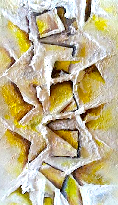 Abstract by Jackie Schuld painted after the death of her mother