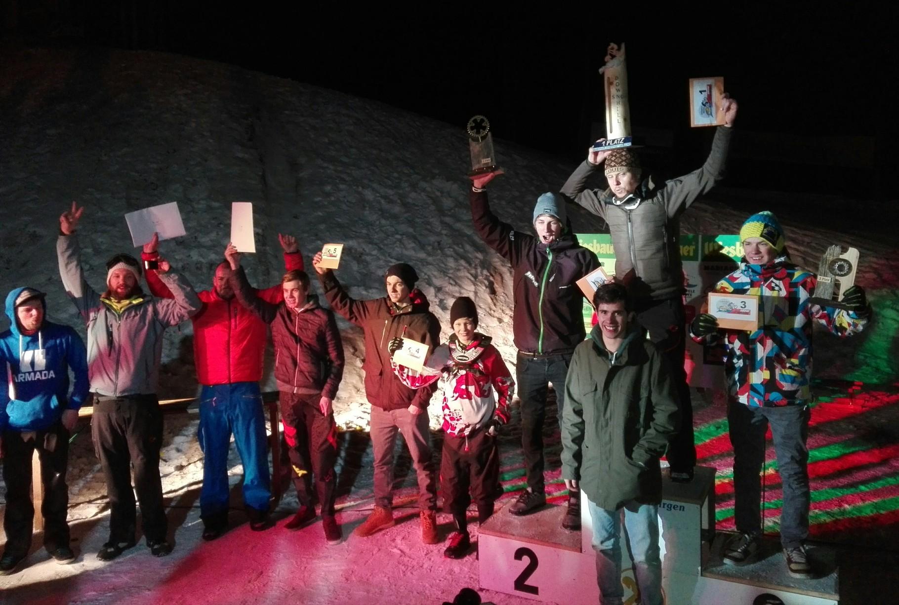 4. Platz in Virgen beim Schneefräsen Rennen 2016