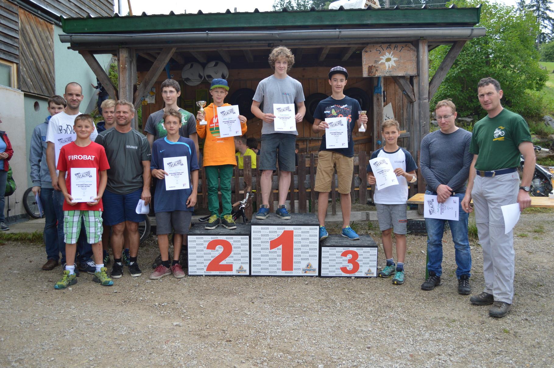 2. Platz Trialbike  grüne Spur Lunz am See 2014