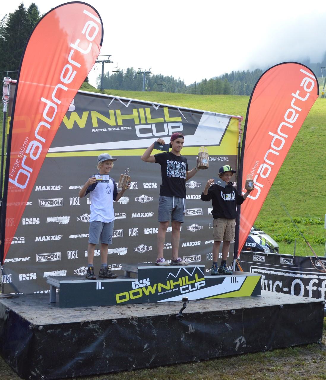 2.Platz beim Downhill im Brandnertal (Vorarlberg) 2015