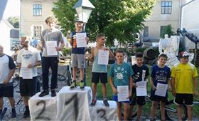 1. Platz Trialbike grüne Spur Samstag Pulkau 2014