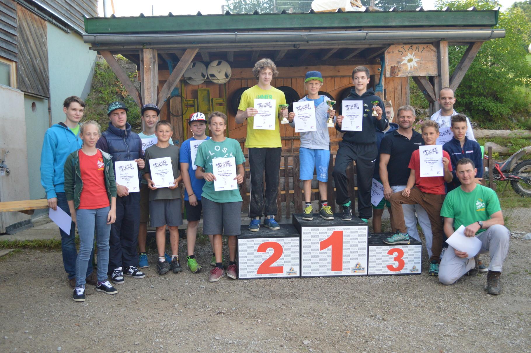 1.Platz Trialbike grüne Spur Lunz am See 2014
