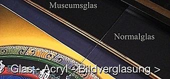 Museums, Glas und Plexiglas für Ihre Bilder bei Bilderrahmen Eder Wien