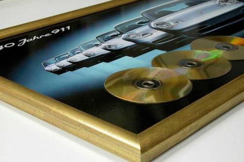 Rahmung goldene Schallplatten Emi bei Bilderrahmen Wien