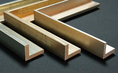 Schattenfugenrahmen Wien: Holz silber, versilbert