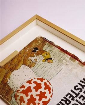 Schaukasten Objekt-Rahmen für Tintin Erstausgabe