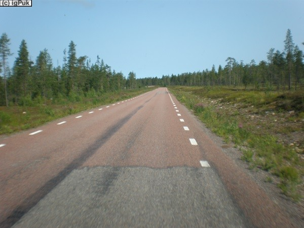 Nebenstraße bei Sveg