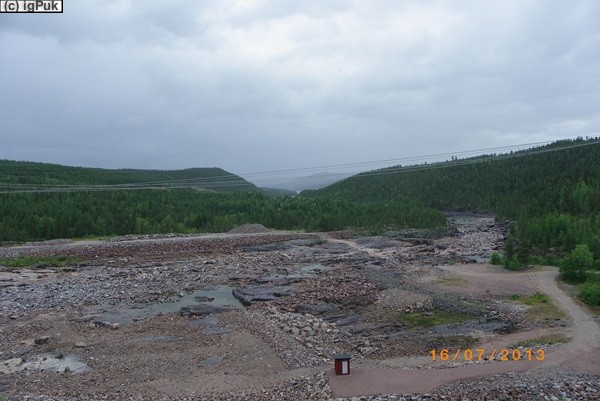 Restwasser Porjus Kraftwerk