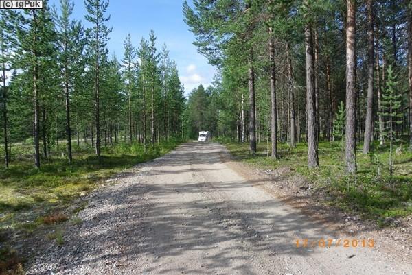 Zufahrt Naturrastplatz Linaälven