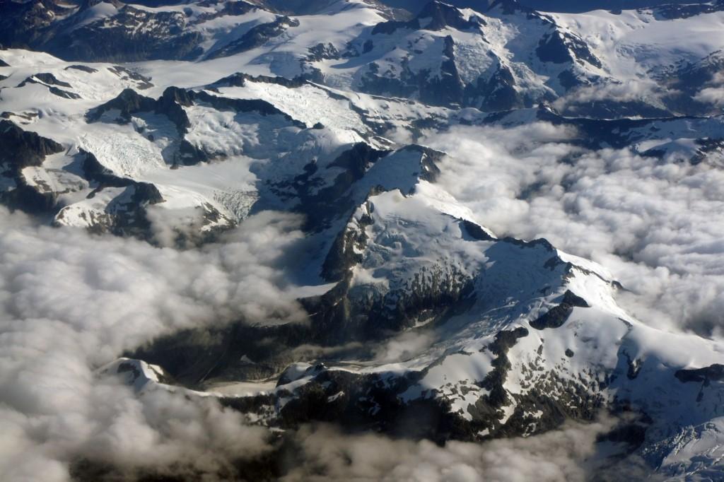 Flug über die Gletscher der Coast Mountains
