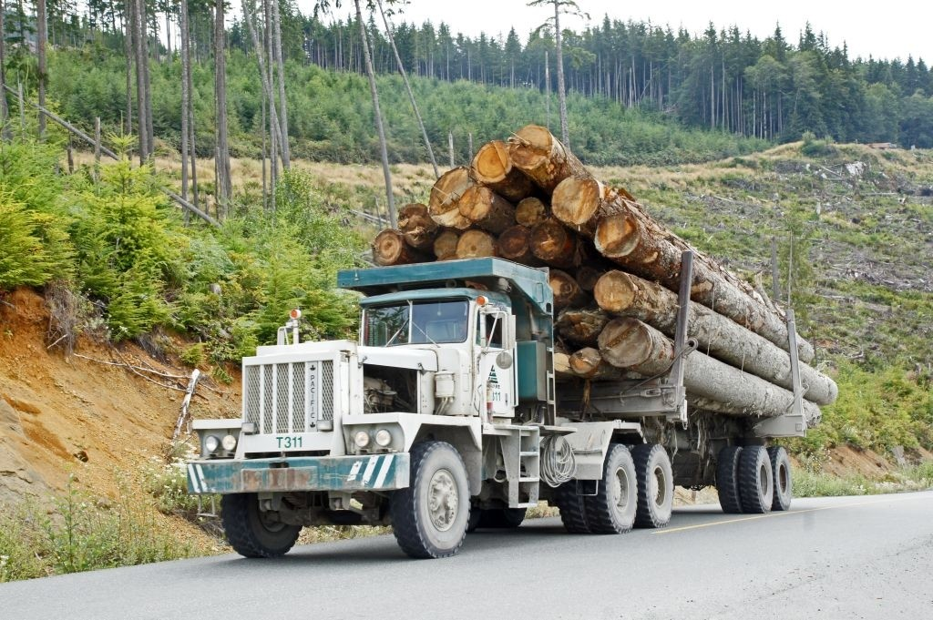 Holztransport, Vancouver Island