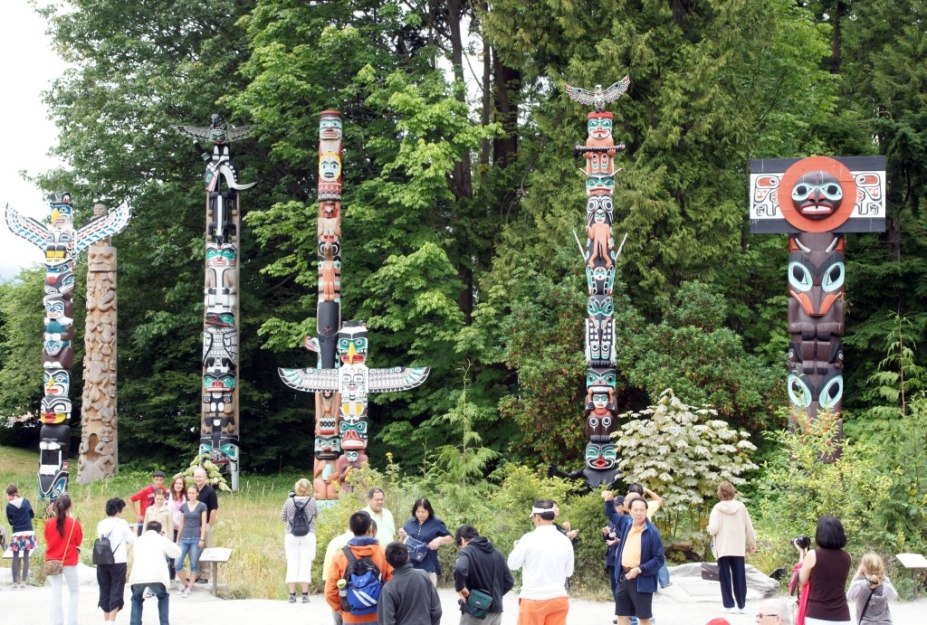 Totems im Stanley Park, Vancouver
