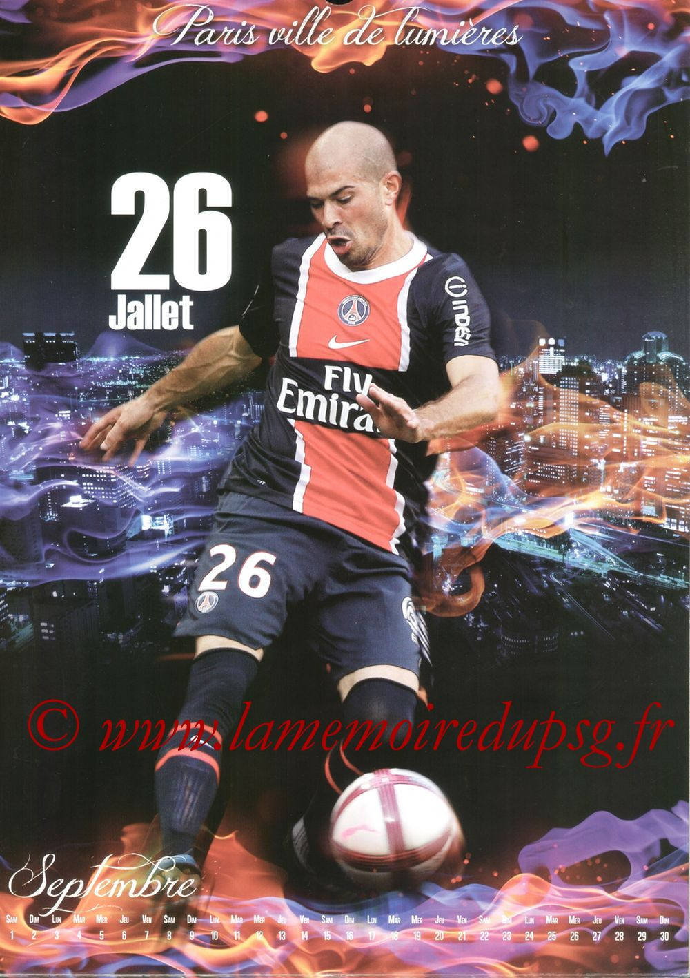 Calendrier PSG 2012bis - Page 09 - Christophe JALLET