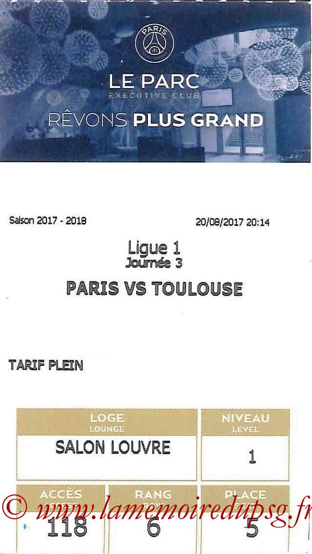 2017-08-20  PSG-Toulouse (3ème L1, E-ticket Executive club)