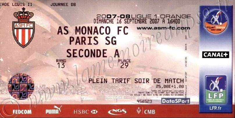 2007-09-16  Monaco-PSG (8ème L1)