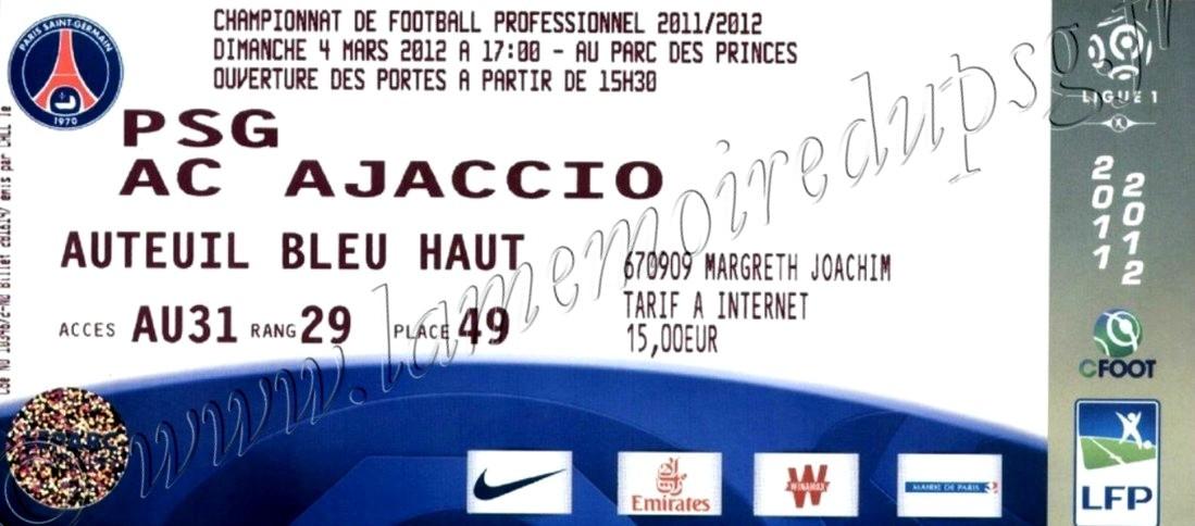 2012-03-04  PSG-Ajaccio (26ème L1)