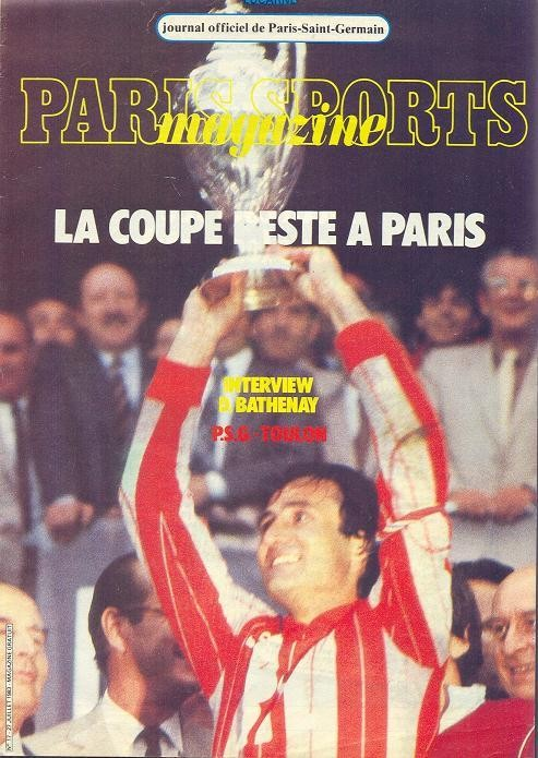 1983-07-27  PSG-Toulon (2ème D1, Paris Sports Magazine N°17)
