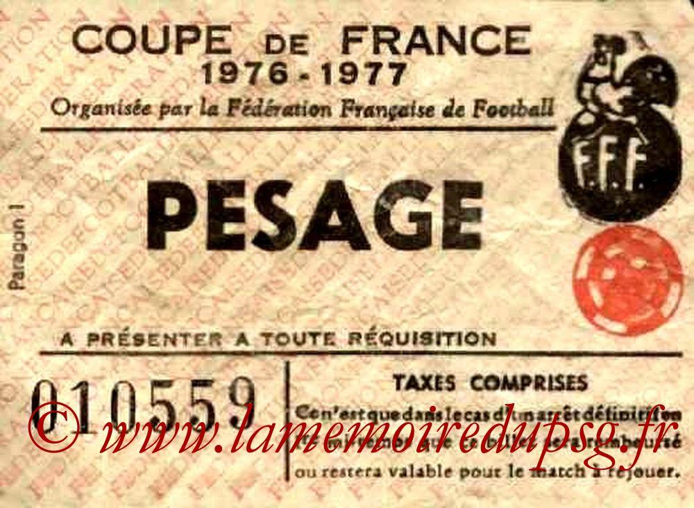 1977-04-10  Sochaux-PSG (8ème Finale Aller CF, Sans nom)