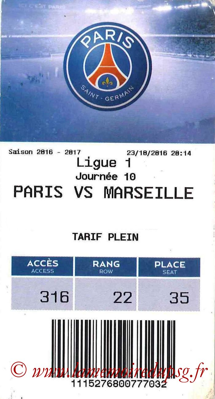 2016-11-19  PSG-Nantes (13ème L1, E-ticket)