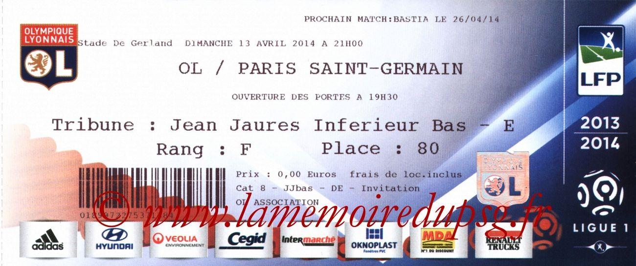 2014-04-13  Lyon-PSG (33ème L1)