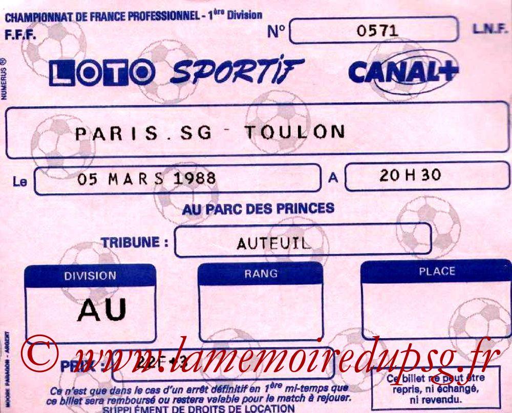 1988-03-05  PSG-Toulon (27ème D1)