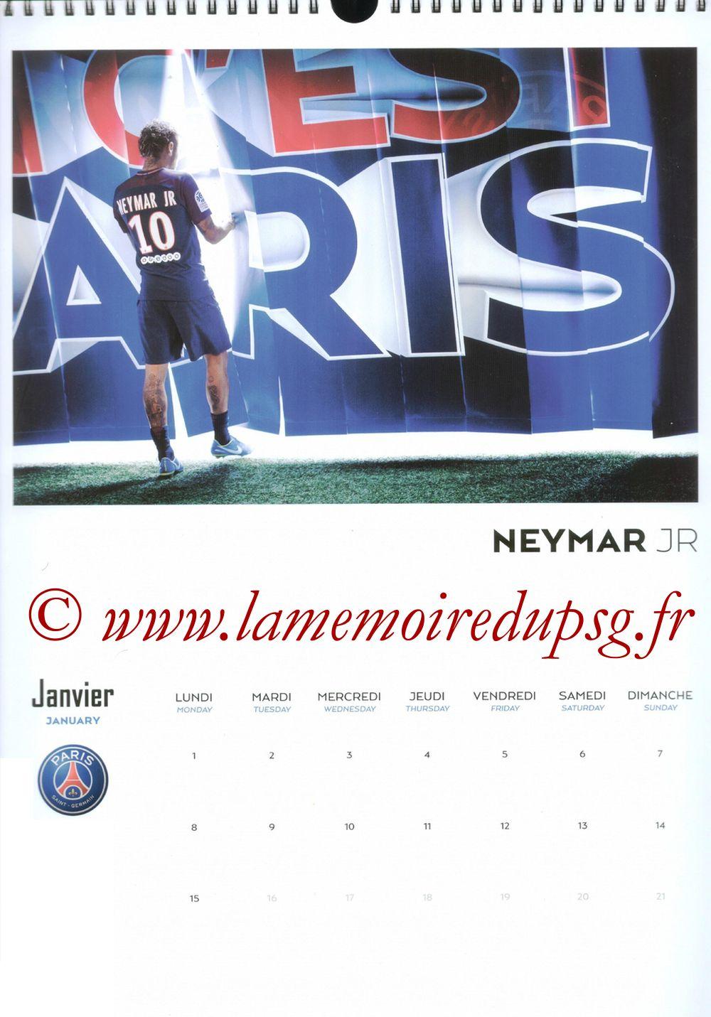 Calendrier PSG 2018 - Page 01 - NEYMAR Jr.
