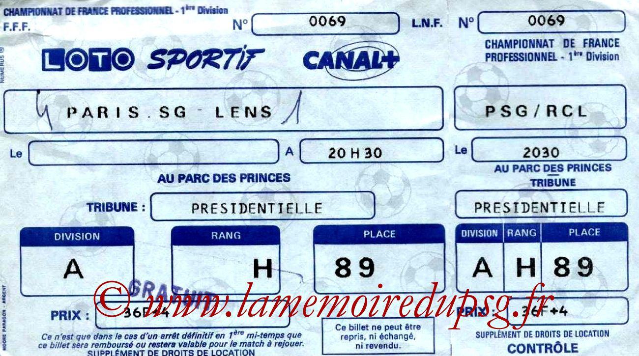 1988-05-27  PSG-Lens (37ème D1, Entier)