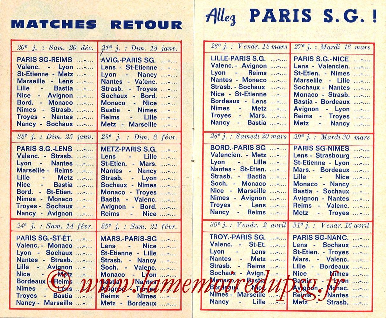 1975-76- Guide de la Saison PSG - Pages 08 et 09