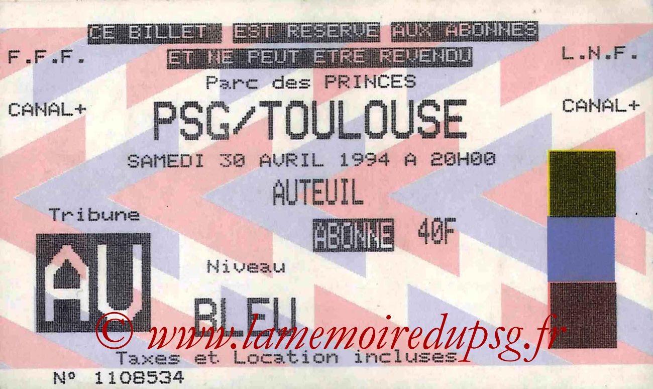 1994-04-30  PSG-Toulouse (36ème D1)